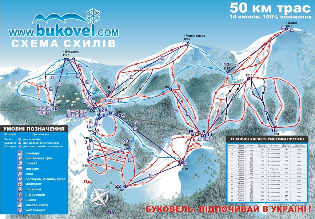 Лыжные трассы проложены на